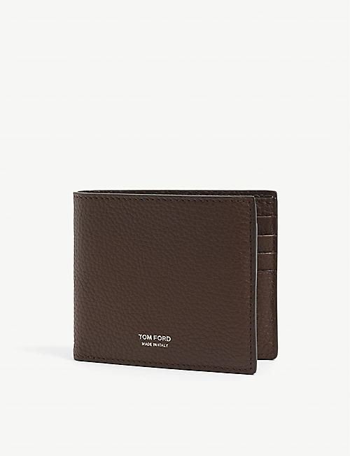 TOM FORD: Pebble grain leather bi-fold wallet