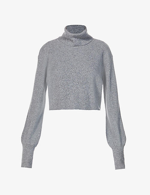 REFORMATION: Luisa turtleneck cropped cashmere jumper