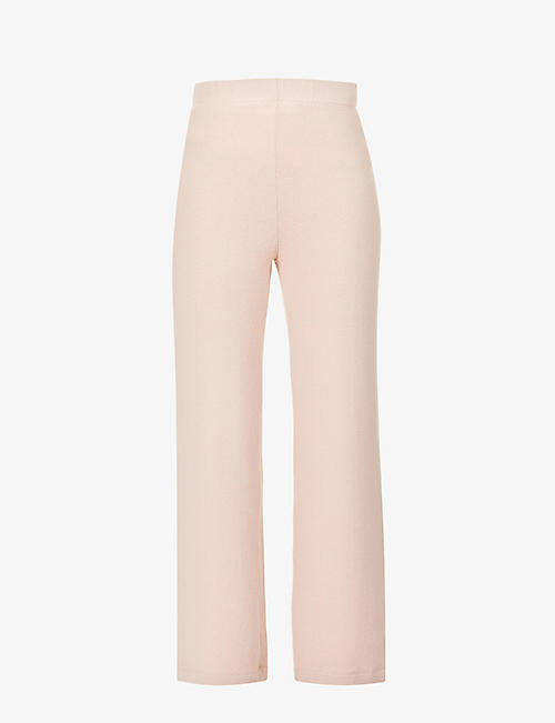REFORMATION: Cirrus wide-leg mid-rise stretch-knit trousers