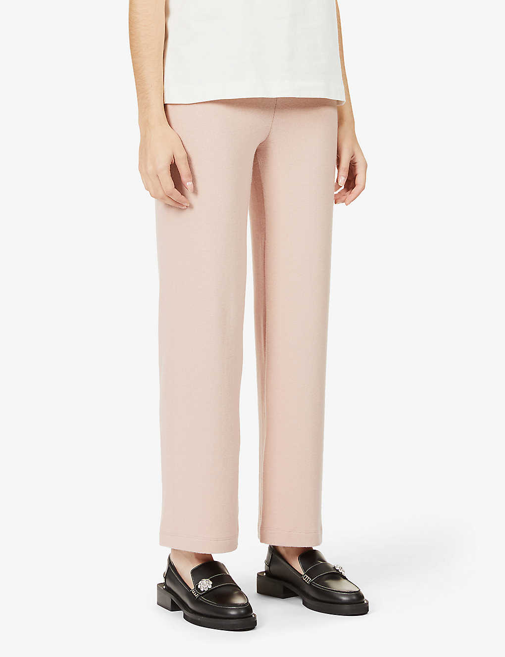 Cirrus wide-leg mid-rise stretch-knit trousers