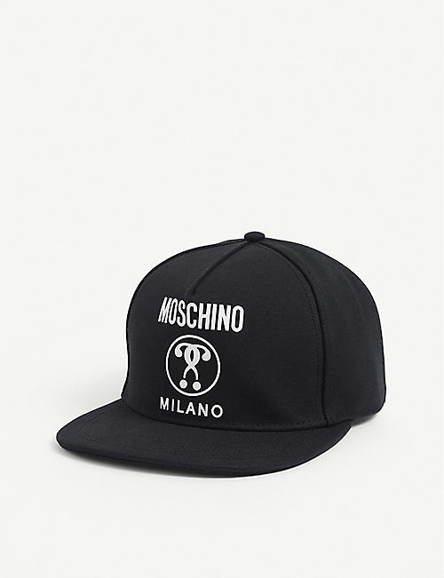 MOSCHINO: Logo-print cotton cap