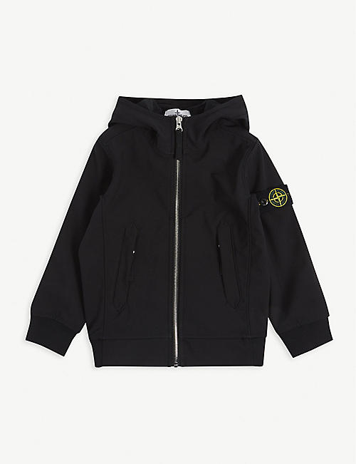 STONE ISLAND: Brand-patch shell hooded jacket 4-14 years