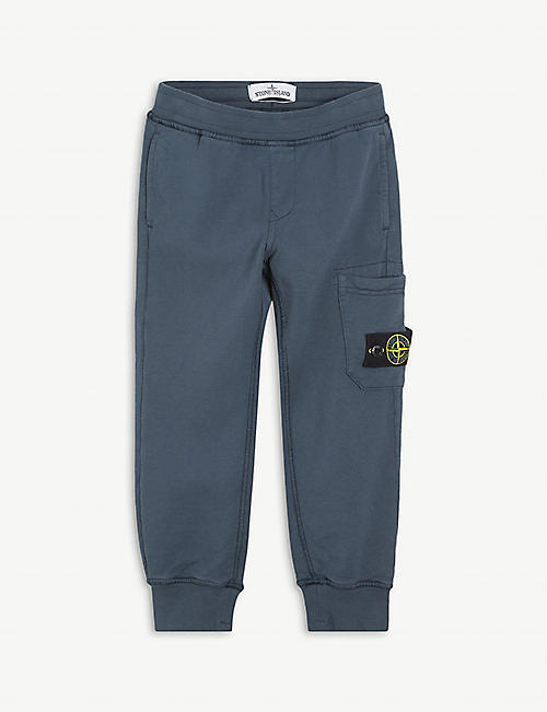 STONE ISLAND: Cotton jogging bottoms 4-14 years