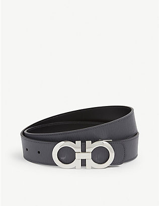 SALVATORE FERRAGAMO: Classic Signature Key Focus leather belt