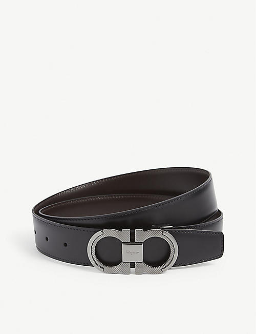 SALVATORE FERRAGAMO: Classic Signature reversible leather belt
