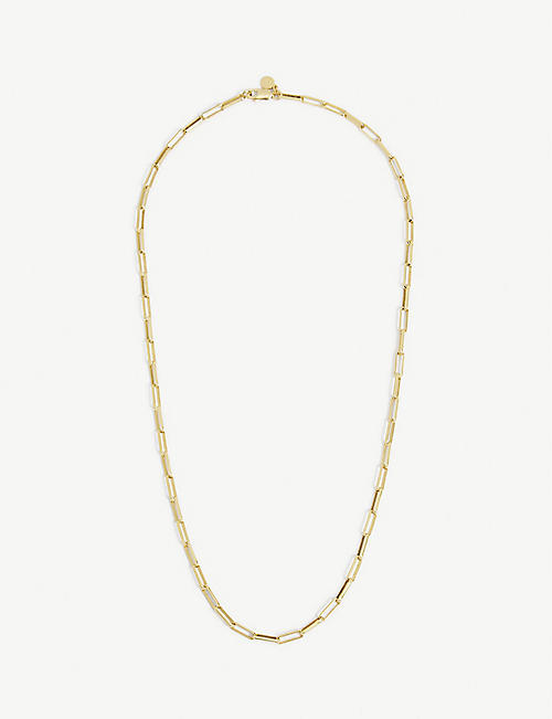 ASTRID & MIYU: Long-link 18ct yellow gold-plated sterling silver necklace