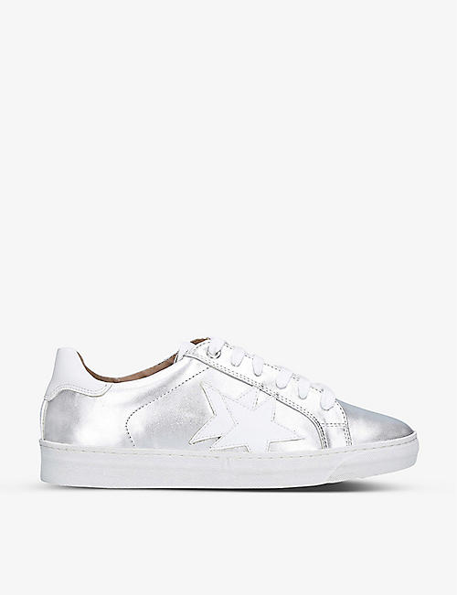 NINE WEST: Starry faux-leather trainers