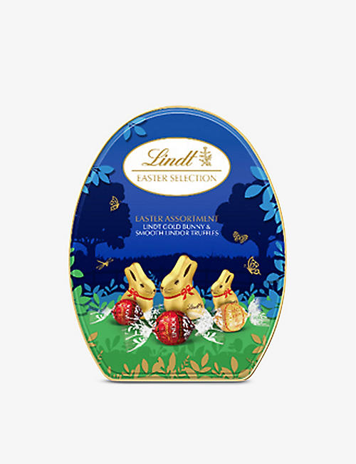 LINDT: Easter Collection Gold Bunny and Lindor truffles tin 330g