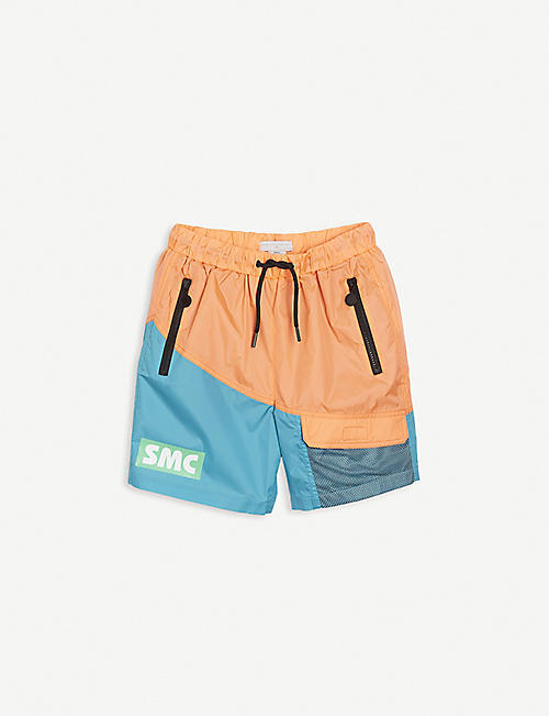 STELLA MCCARTNEY: Colour-block woven swim shorts 4-12 years