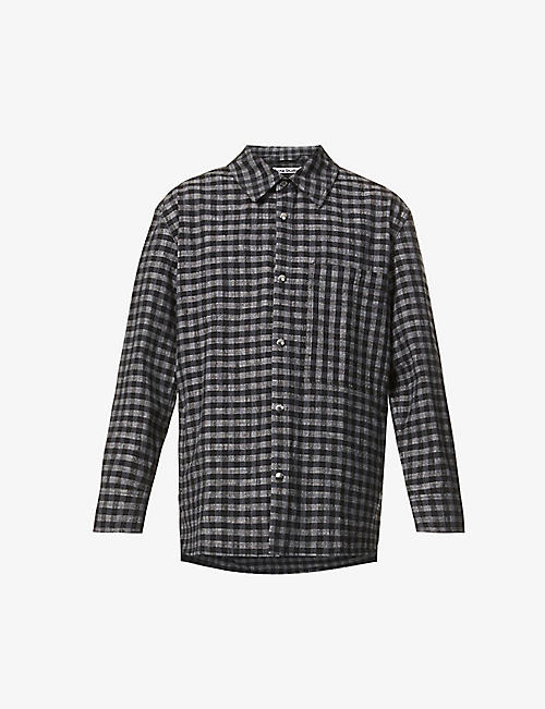 ACNE STUDIOS: Osmano checked oversized cotton-blend jacket