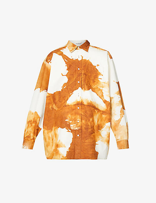 ACNE STUDIOS: Atlent tie-dye stretch-cotton shirt