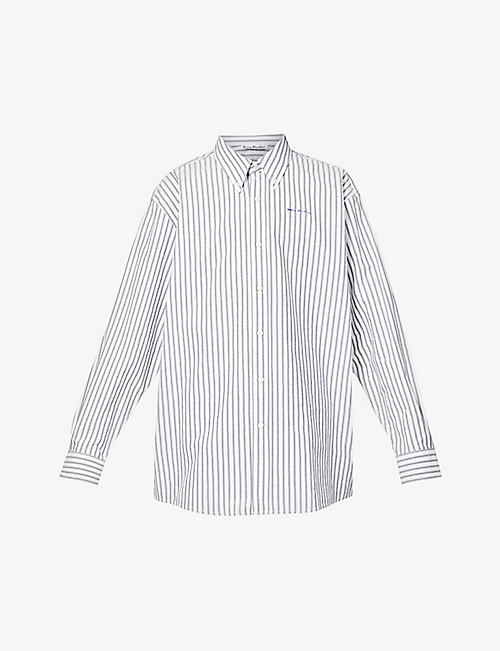 ACNE STUDIOS: Speirs striped oversized cotton shirt