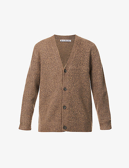 ACNE STUDIOS: Kabelo oversized wool and cashmere-blend cardigan