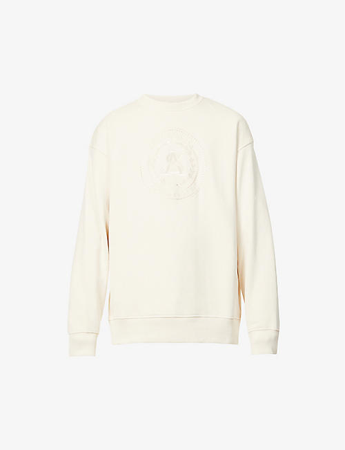 ACNE STUDIOS: Forban logo-embroidered cotton-jersey sweatshirt