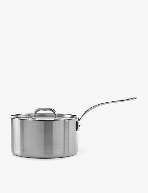SAMUEL GROVES: 3-ply stainless steel saucepan with lid 26cm