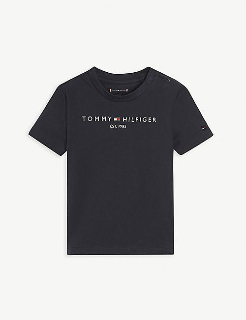 TOMMY HILFIGER: Logo-embroidered cotton T-shirt 0-24 months
