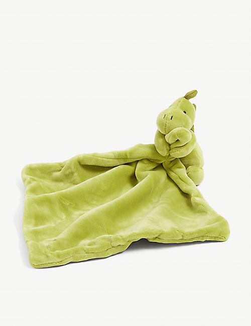 JELLYCAT: My Friend Dino soother blanket 28cm x 28cm