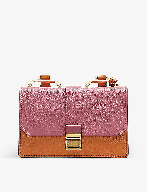 RESELLFRIDGES: Pre-loved Miu Miu Madras leather cross-body bag