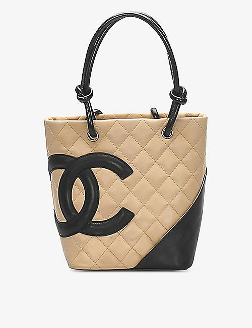 RESELLFRIDGES: Pre-loved Chanel Cambon Ligne leather tote bag