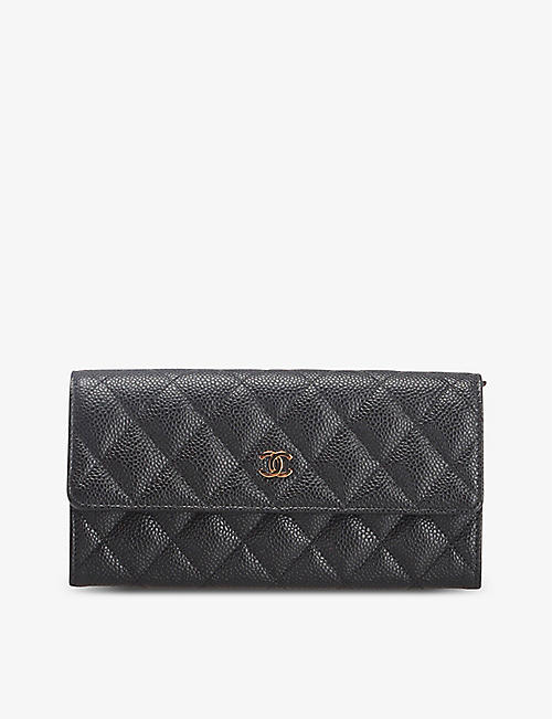 RESELLFRIDGES: Pre-loved Chanel CC quilted leather wallet