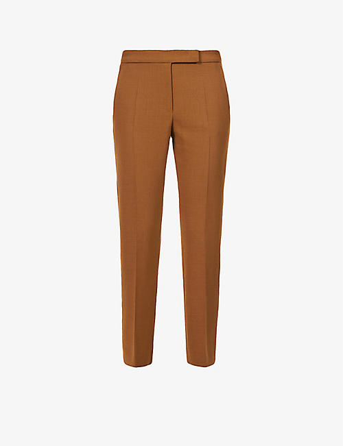 MAX MARA: Micenea tapered high-rise wool-blend trousers