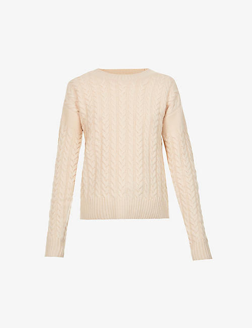 MAX MARA: Breda cable knit wool and cashmere-blend jumper