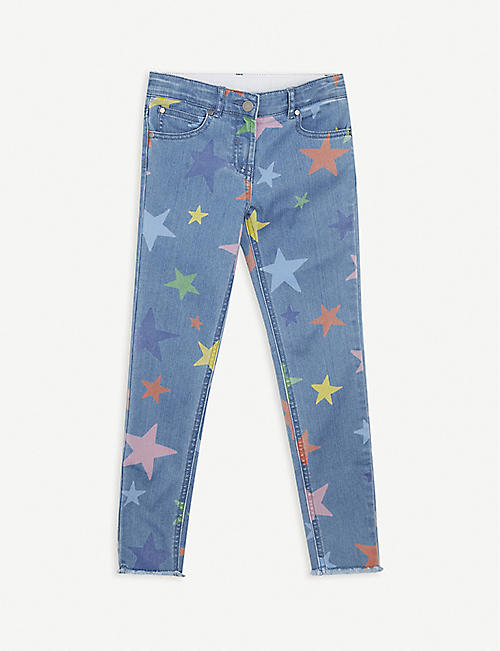 STELLA MCCARTNEY: Star-print organic cotton-blend trousers 4-14 years