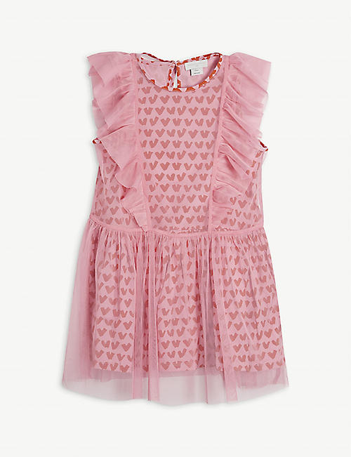 STELLA MCCARTNEY: Graphic-print tulle dress 4-14 years
