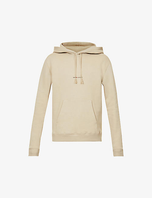 SAINT LAURENT: Logo-print cotton-jersey hoody
