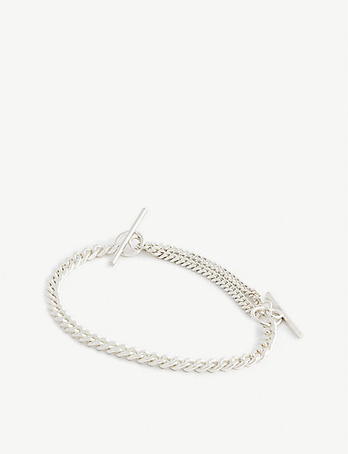 SINUM: Safe thin silver bracelet
