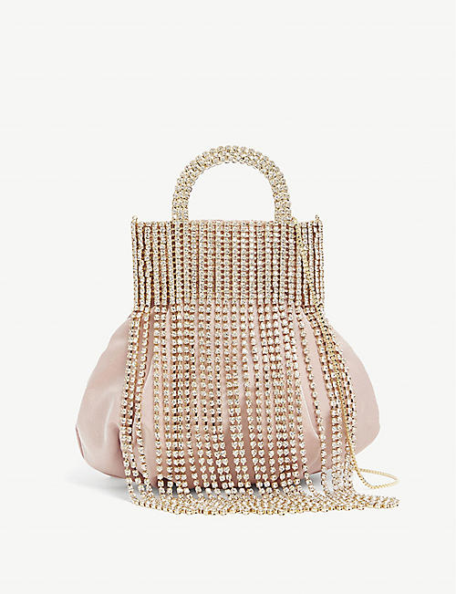 ROSANTICA: Follie crystal-embellished silk cross-body bag