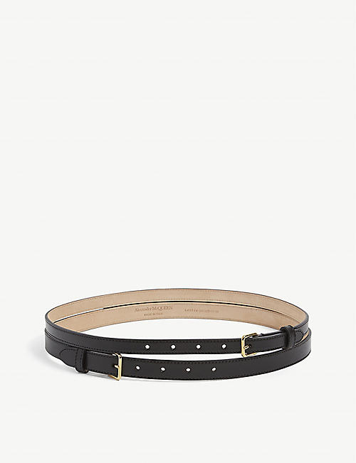 ALEXANDER MCQUEEN: Double leather belt