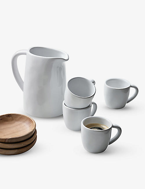 THE WHITE COMPANY: Portobello stoneware espresso mugs set of two