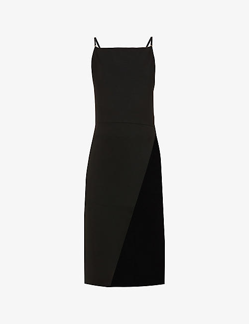 SPORTMAX: Sleeveless stretch-woven midi dress