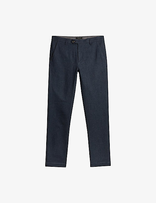 TED BAKER: Haloe slim-fit knitted trousers