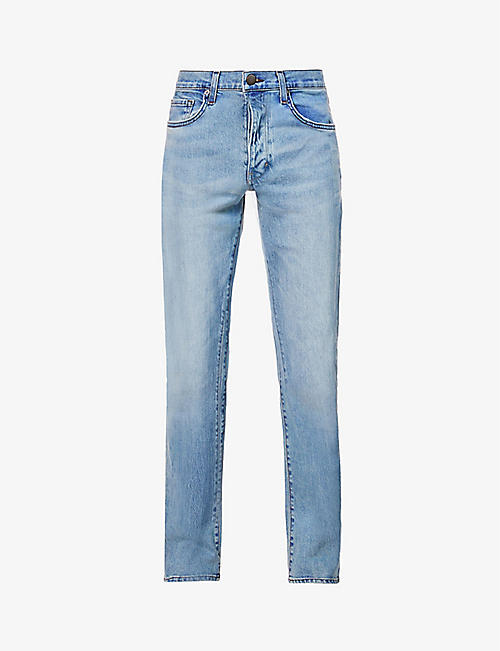 NEUW: Faded relaxed- fit stretch-denim jeans