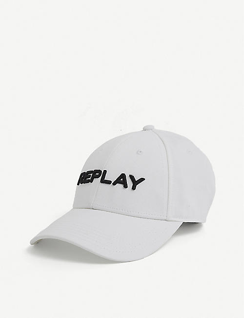 REPLAY: Logo-embroidered cotton baseball cap
