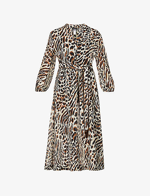 JETS BY JESSIKA ALLEN: Prowess leopard-print cotton and silk-blend maxi dress