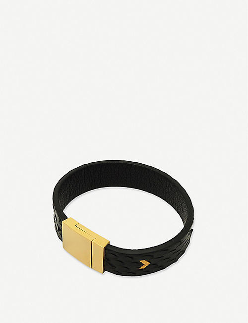 SMARTECH: Tovi Sorga snakeskin-embossed medium leather contactless payment bracelet