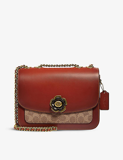 COACH: Madison leather shoulder bag