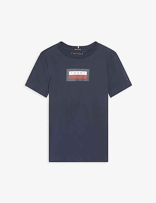 TOMMY HILFIGER: Logo-print cotton T-shirt 4-16 years