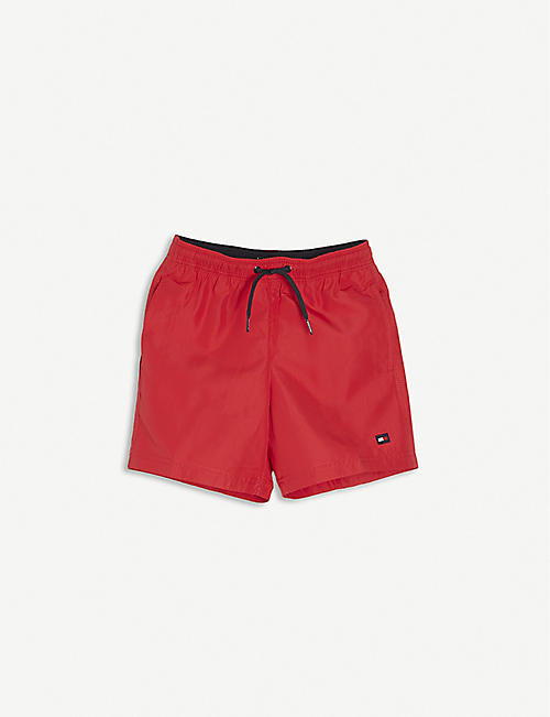 TOMMY HILFIGER: Logo-embellished swim shorts 8-16 years