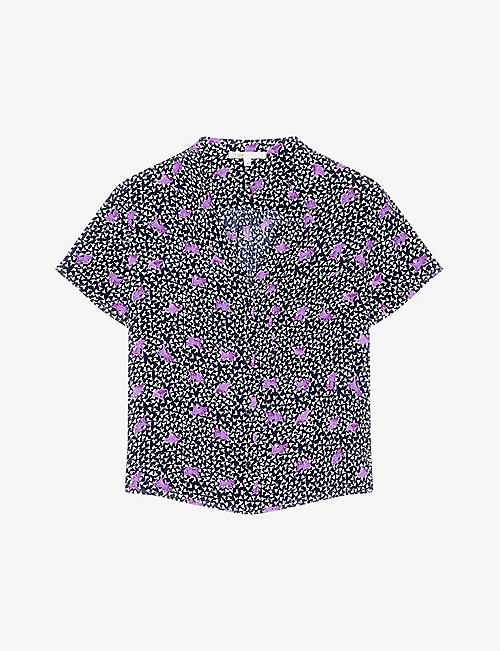 MAJE: Cipensa graphic-print crepe shirt