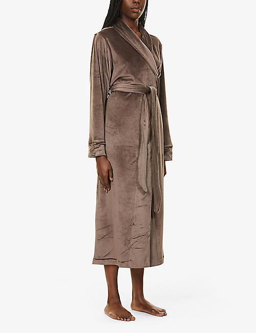 Vivisence Women Luxury Hooded Dressing Gown Ladies Towelling Bath Robe 5004