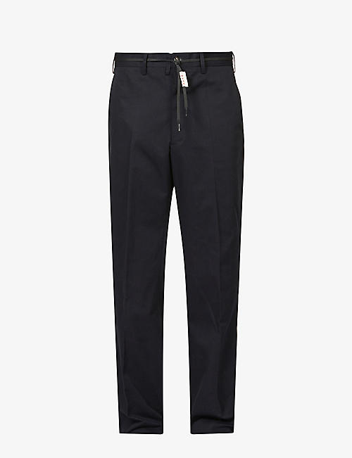 MARNI: Slim high-rise woven trousers