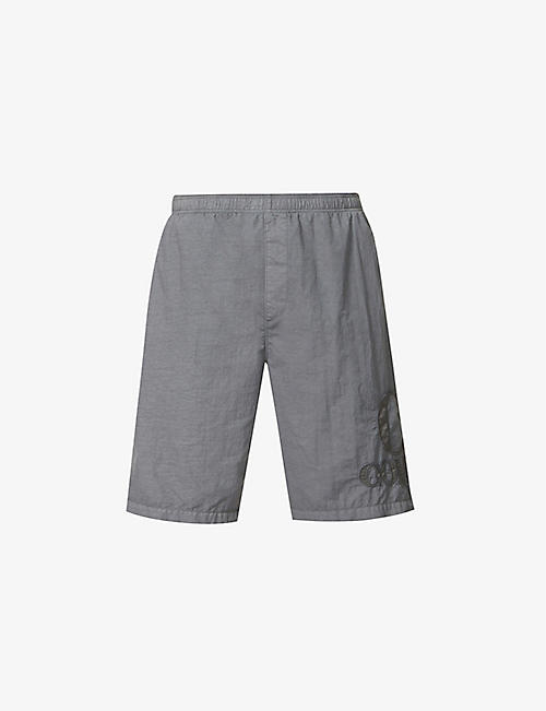 CP COMPANY: Logo-embellished mid-rise shell shorts