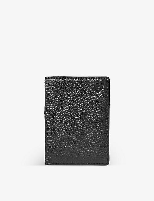 ASPINAL OF LONDON: Double Fold leather card holder