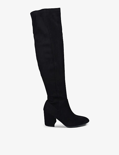 KG KURT GEIGER: Tell suede knee-high boots