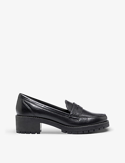 DUNE: Glints leather platform loafers