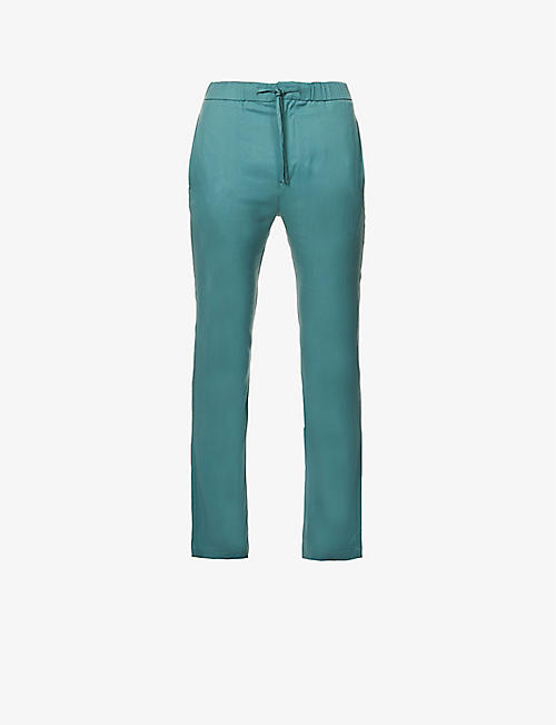 FRESCOBOL CARIOCA: Oscar slim-fit tapered-leg woven trousers